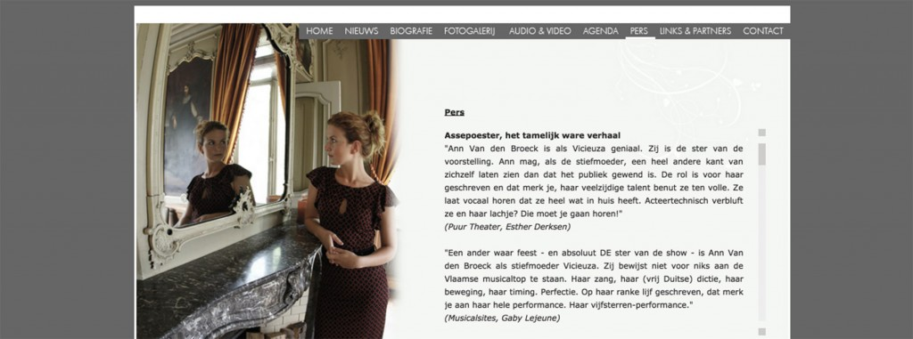 webdesign & website Ann Van den Broeck | Xclusief
