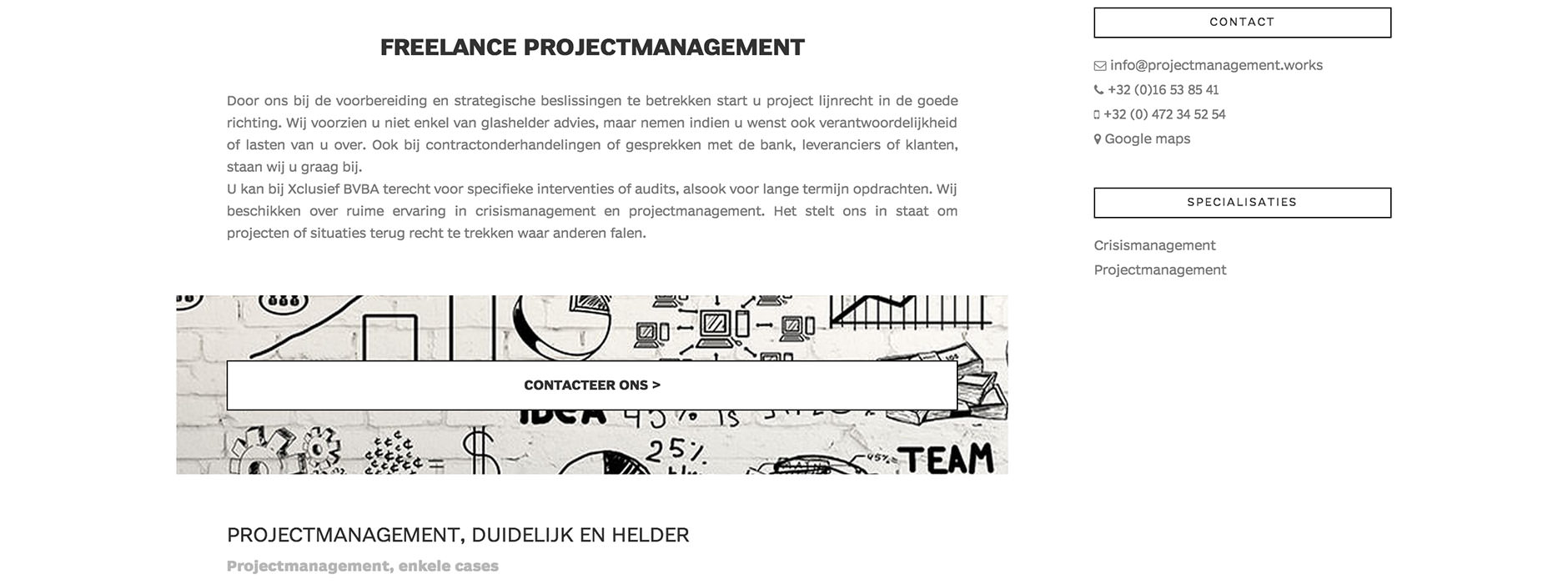 webdesign & website crisismanagement & projectmanagement | Xclusief