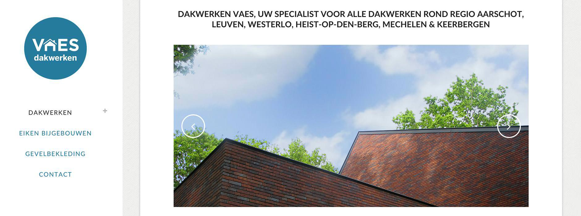 webdesign & website dakwerken Vaes | Xclusief