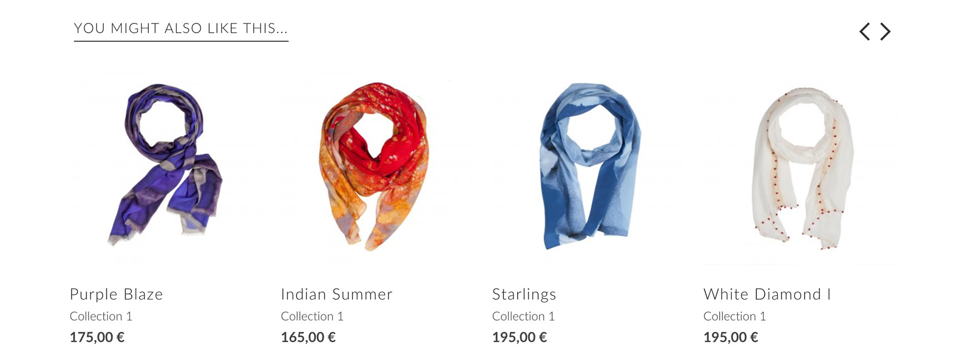 webdesign & website IBES scarves | Xclusief