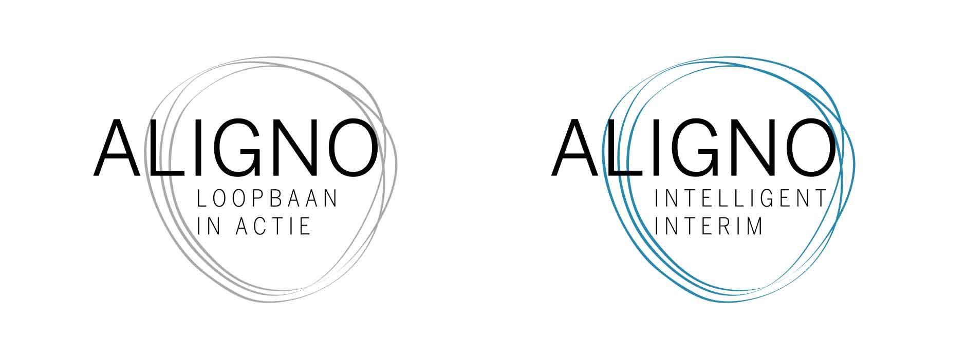 logo design Aligno & Loopbaan in actie | Xclusief
