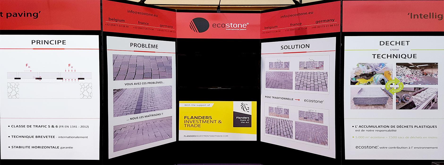 Grafisch ontwerp beurspanelen Ecostone| Xclusief